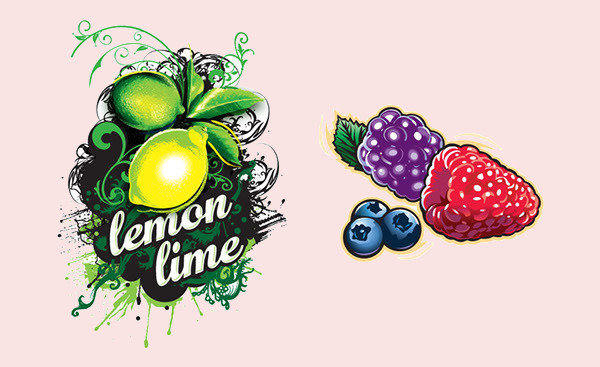 Fruit Splash Illustration Design