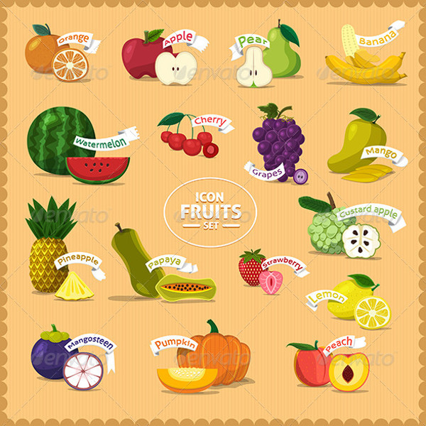 Fruits Background Illustration