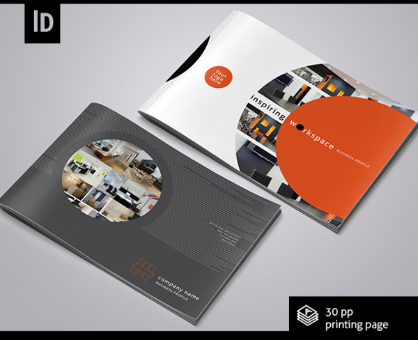 Fully Editable Interior Brochure
