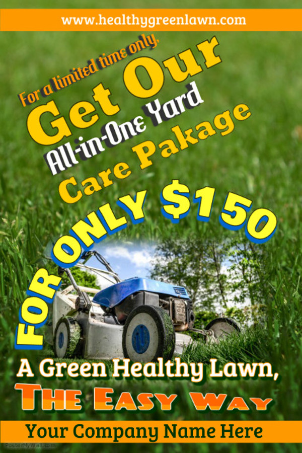 Fully Editable Lawn Care Flyer