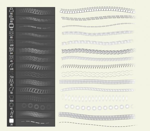 Fully Editable Zipper Brushes