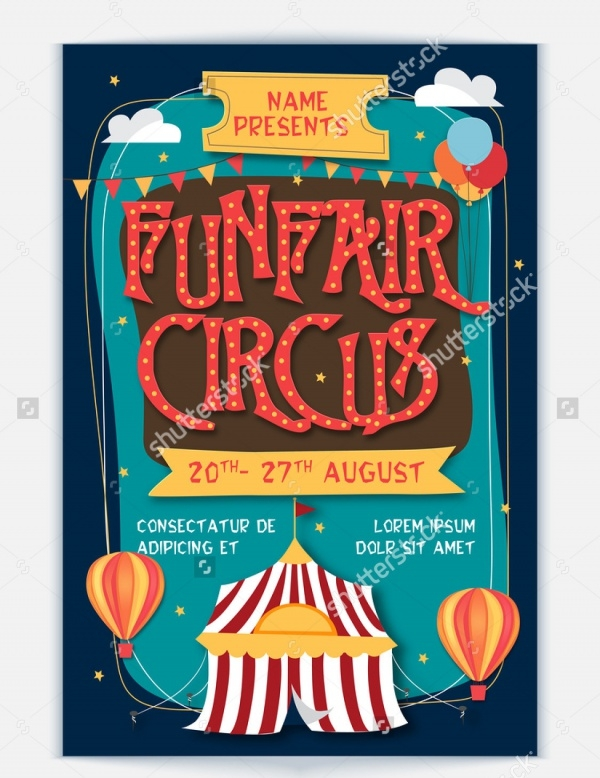 Funfair Circus Exhibition Flyer