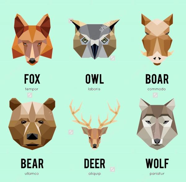 Geometric Animal Illustration