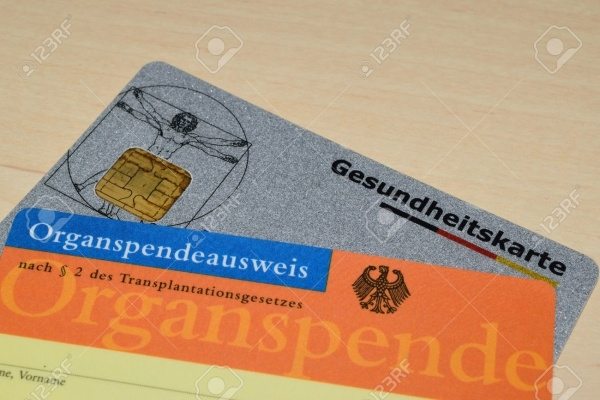 German Organ Donor Card