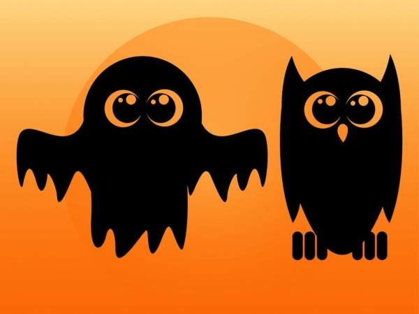 Ghost And Owl character vector