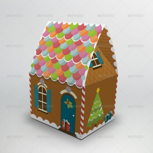 Gingerbread House Packaging Gift Box