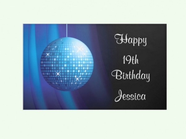 Glamorous Birthday Disco Ball Banner