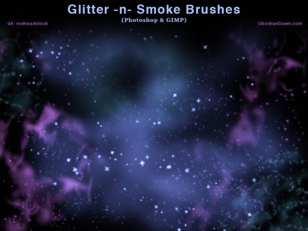 Glitter And Smoke Brushes