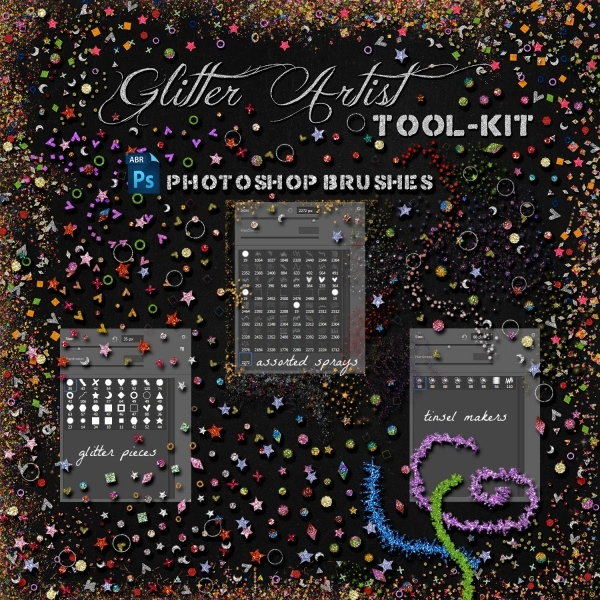 Glitter Artist Photoshop Brushes
