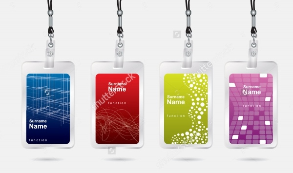 Glittering Name Tag Design