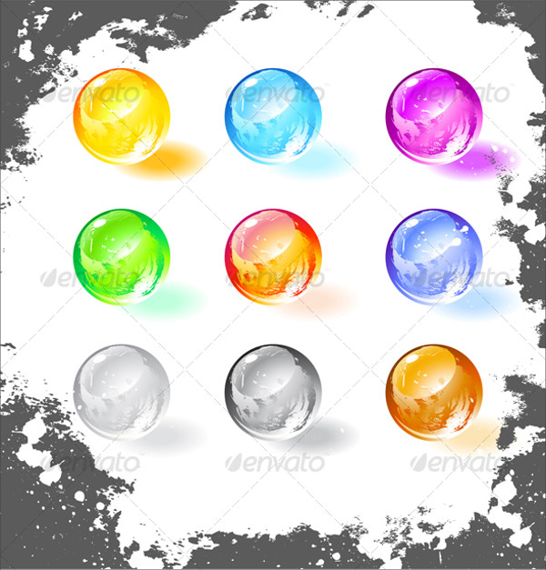 Glossy Balls Vector Illustration