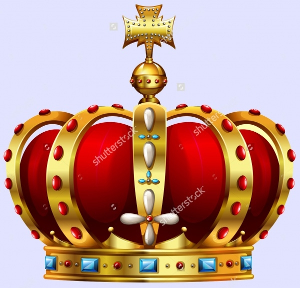 Gold Red Colored Crown Clip-art