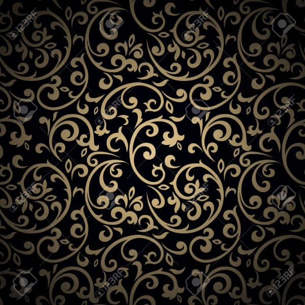 Golden Flourish Background Pattern