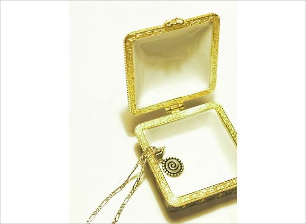 Golden Jewelry Box Packaging Design