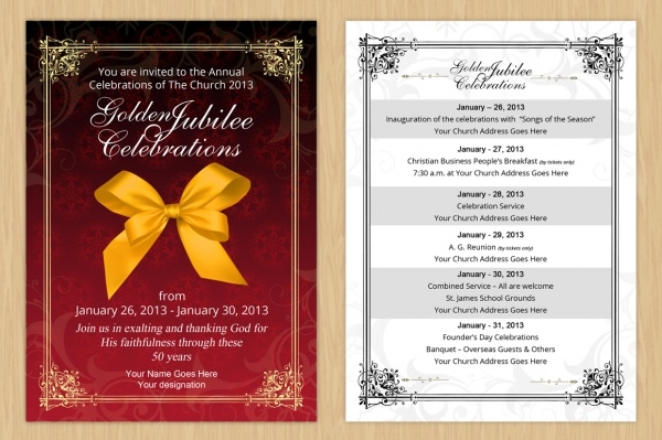 Golden Jubilee Anniversary Invitation