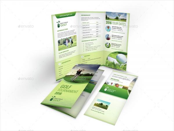 Golf Club Trifold Brochure Design