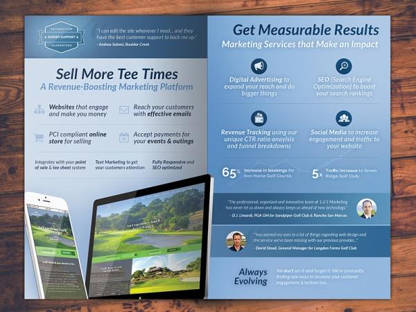 Golf Marketing Brochure Design