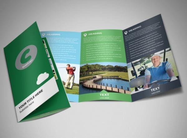 Golf Membership Tri-Fold Brochure Design