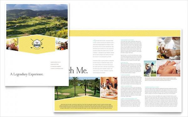 Golf Resort Half Fold Brochure Template