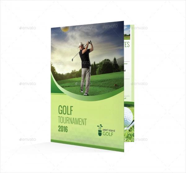 Golf Tournament Half Fold Brochure