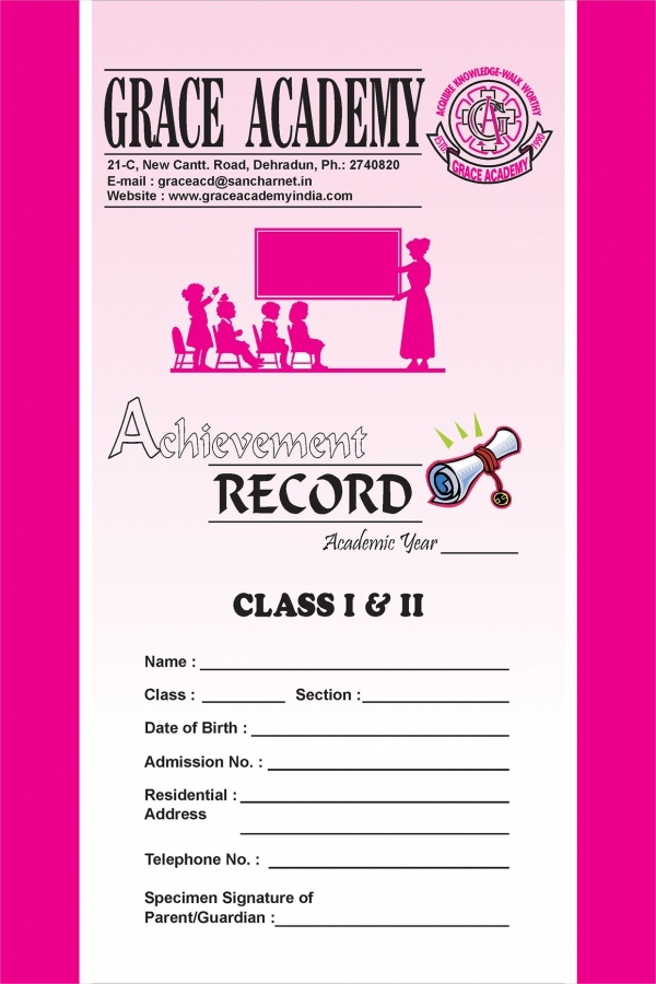 Grace Academy Class Report Cards