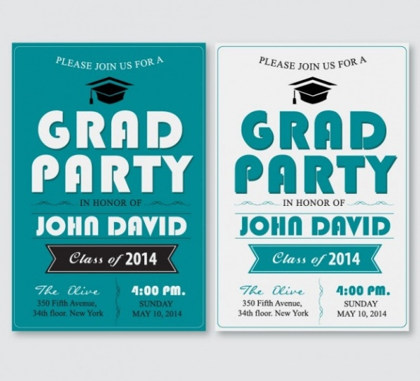 Grad Party Poster Invitation