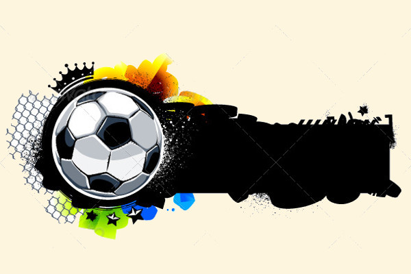 Graffiti Image with Soccer Ball