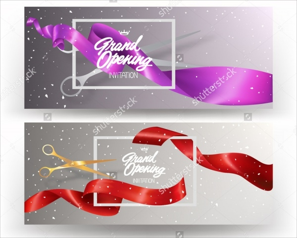 Grand Opening Silk Curled Banner
