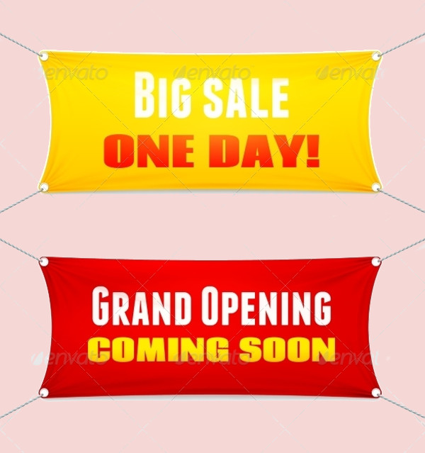 Grand Opening Textile Banner