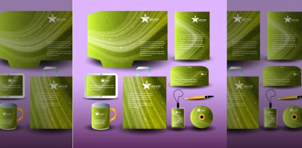Green Abstract Corporate Free Vector