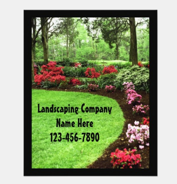 Green Landscape Lawn Care Flyer