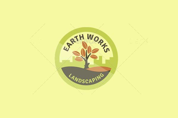 Green Landscape Logo Design