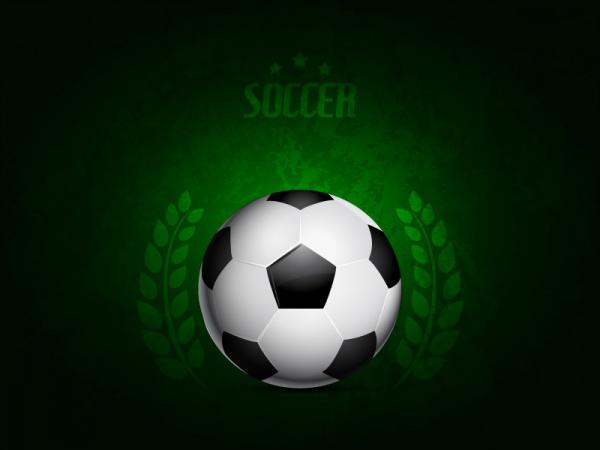 Green Soccer Ball Vector