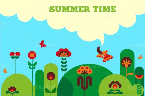 Green Summer - modern illustration