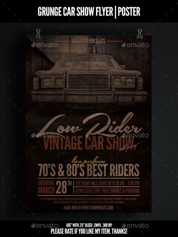 Grunge Car Show Flyer