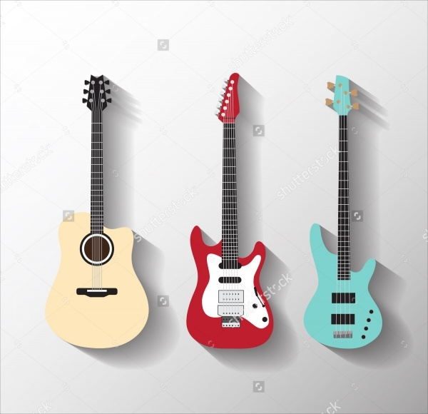 Guitar Vector Illustration Set