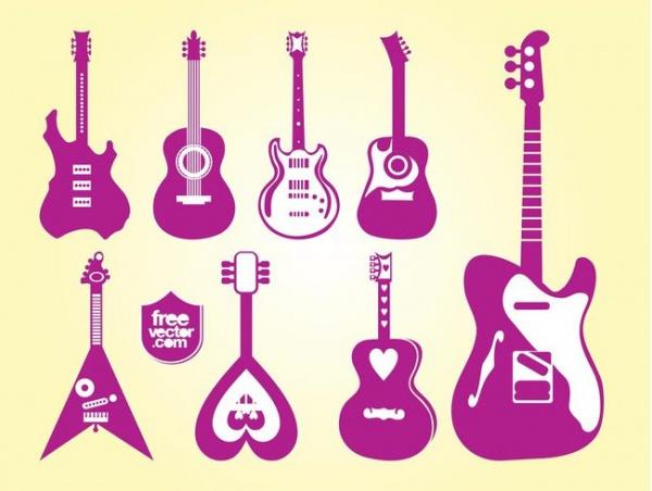 Guitars Vector Instrumental Set