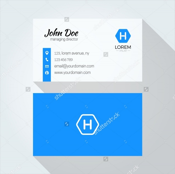 H Letter Minimal Corporate Business Card