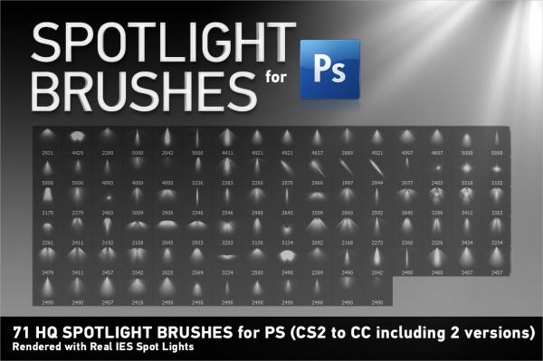 HQ Spotlight Brushes for PS