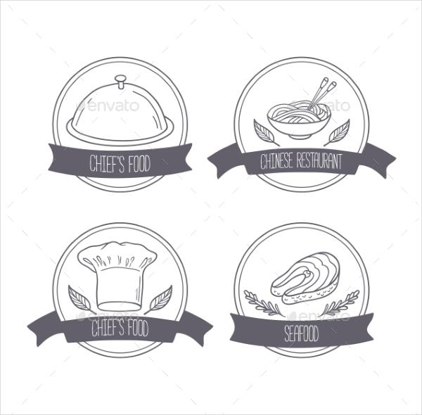 Hand Drawn Food Labels