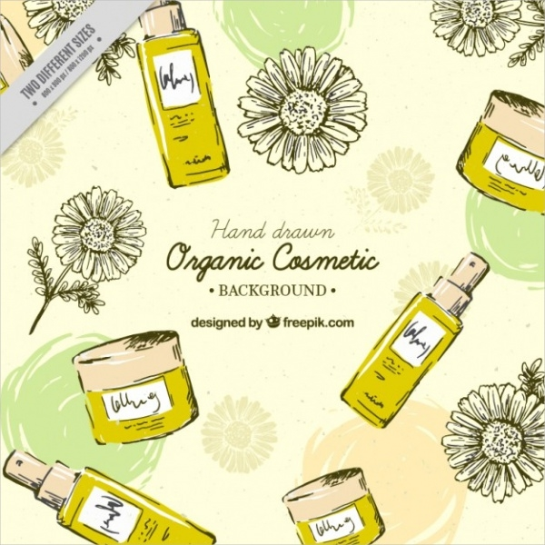 Hand Drawn Honey Beauty Cosmetic Label