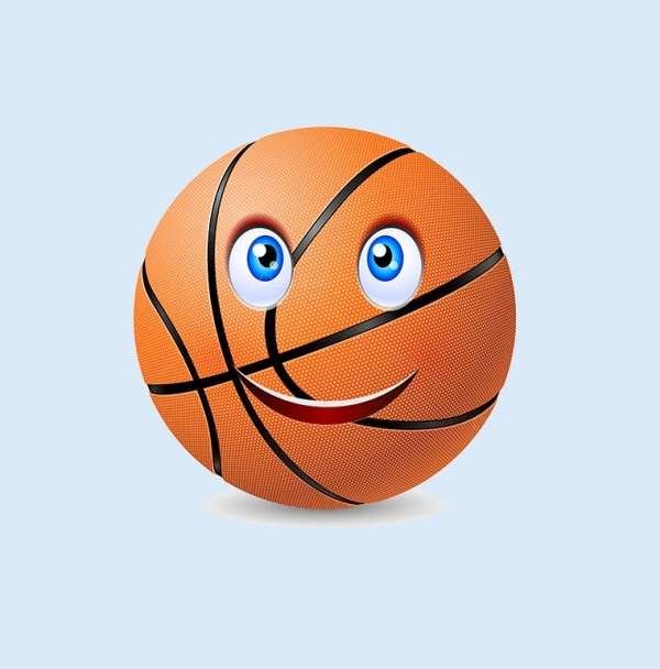 Happy Basket Ball Vector