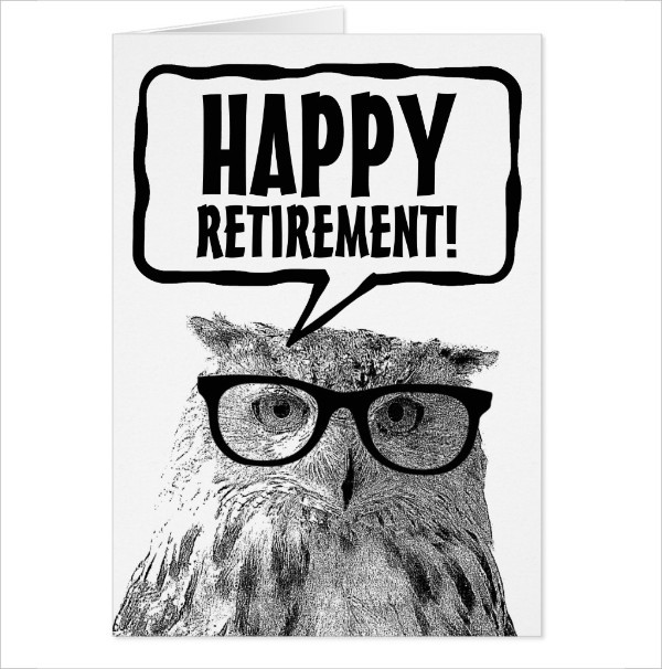 Happy Retirement Funny Owl Greeting Card