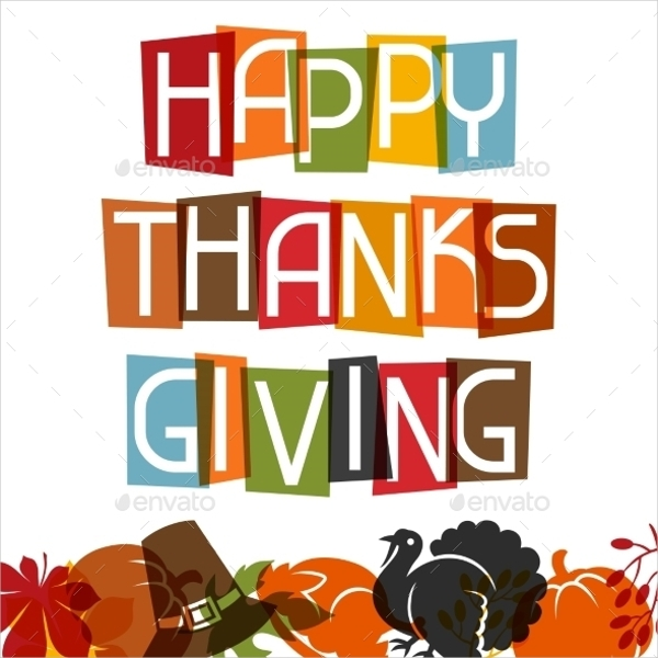 Happy Thanksgiving Day Card Design