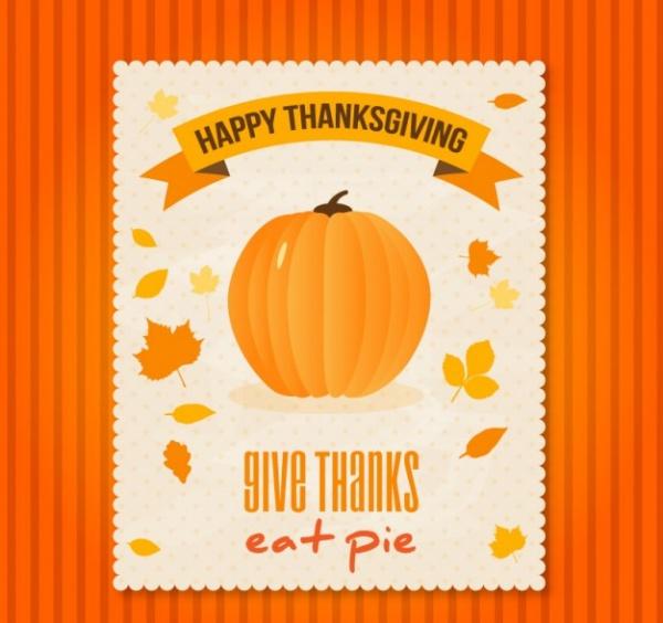 Happy Thanksgiving Pumpkin Invitation Template