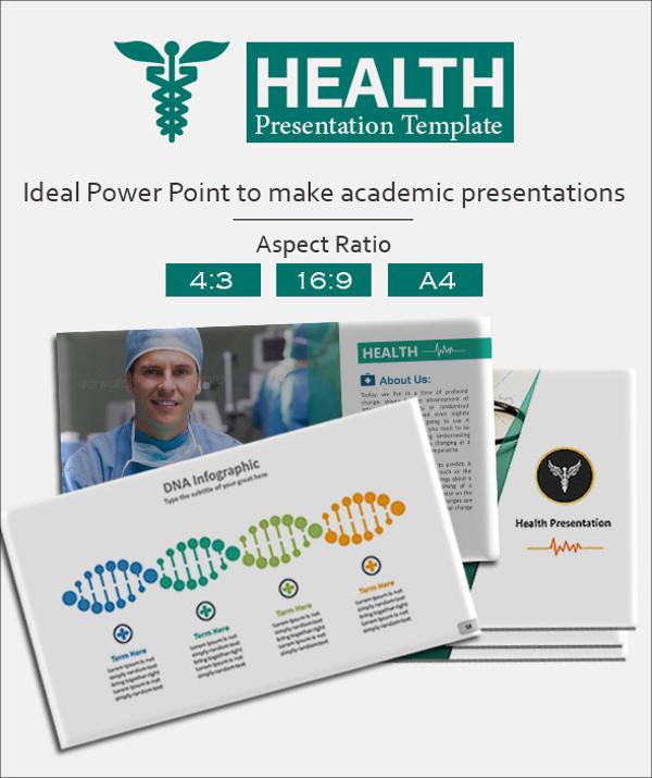 Health Presentation Template Design