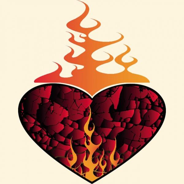 Heart on Fire Illustration