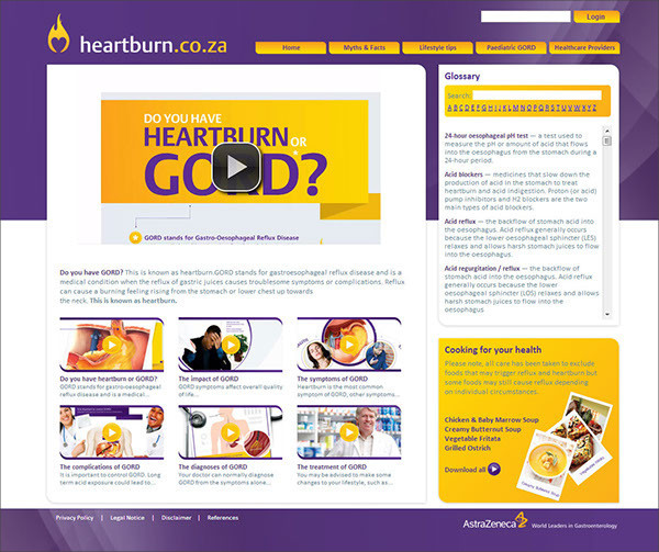 Heartburn Awareness Presentation Template