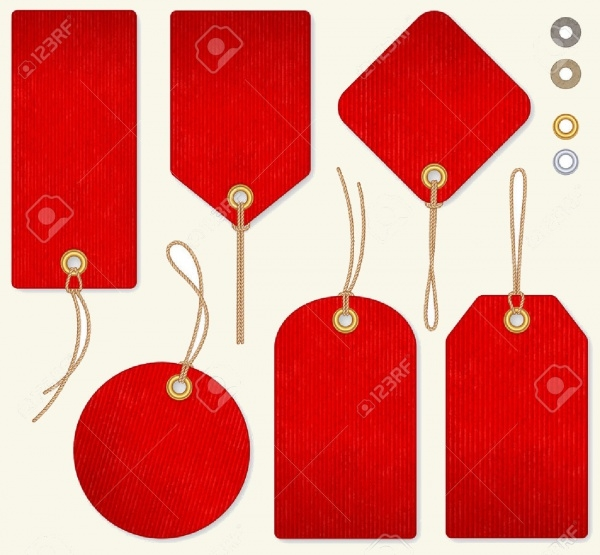 High Detail Red Price Hang Tags