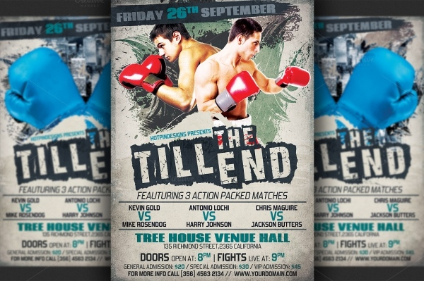 High Quality Boxing Flyer